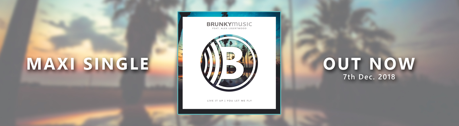 "Brunky Music ""Live it up""[feat. Alex Ligertwood] available on CD, vinyl and digital"